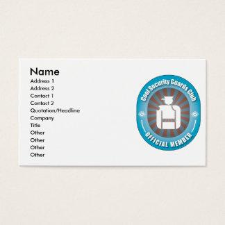 Cooler Sicherheits-Schutz-Verein Visitenkarten