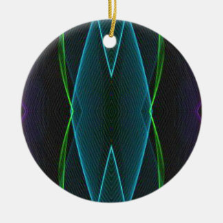 Cooler Spaß-lineares abstraktes für ihn Keramik Ornament