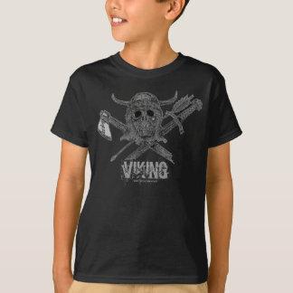 Cooler T - Shirtentwurf Wikinger-Schädels T-Shirt