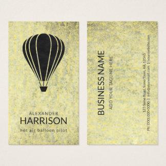 Cooler Vintager Heißluft-Ballon-PilotBalloonist Visitenkarte