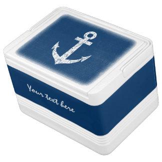 Coolerer Kasten der Seedose mit Bootsankerentwurf Igloo Kühlbox
