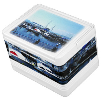 Cooleres Teil 1 Kasten des blauen Ozean-Fotos Igloo Kühlbox