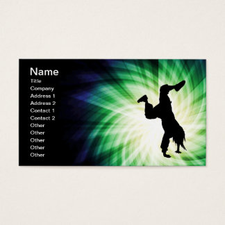 Cooles Breakdancer Visitenkarte