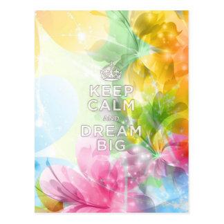 """Cooles fantastisches trendy Zitat """"behalten die Postkarte"""