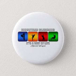 Cooles Gebirgsklettern ist- es eine Lebensart Runder Button 5,7 Cm