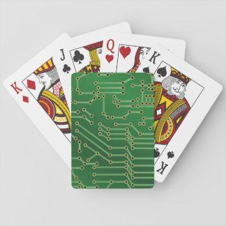 Cooles Leiterplatte-Computer-Grün Spielkarten