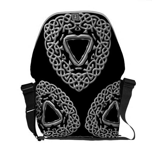 Cooles metallisches Chrom-keltische Verzierungs-Bo Kurier Tasche