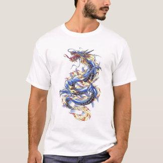 Cooles orientalisches blaues Drache-Shirt T-Shirt