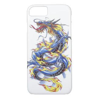 Cooles orientalisches japanisches blaues Drache iPhone 7 Hülle