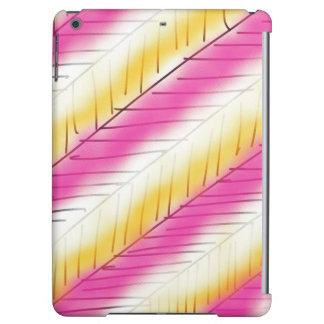 Cooles rosa gelbes modernes Streifen-Muster