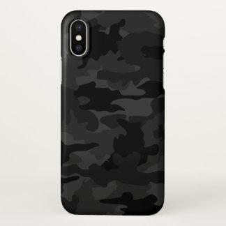 Cooles schwarzes und graues iPhone x hülle