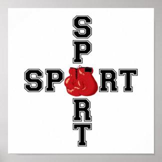 Cooles Sport-Verpacken-Kreuz Poster
