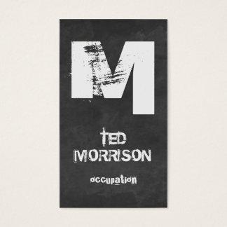Cooles Tafelgeschäftskarten-Schablone Monogramm Visitenkarten