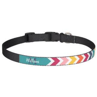 Cooles trendy buntes kundenspezifisches Monogramm Hundehalsbänder