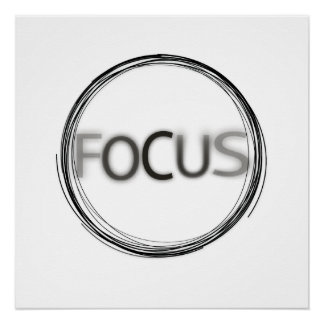 Cooles Trendy Fokus-Logo-moderne Typografie Poster