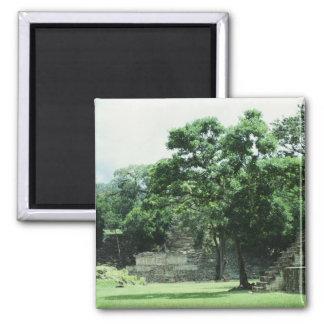 Copan Honduras Mayaruine-Foto entworfen Quadratischer Magnet