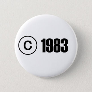 Copyright 1983 runder button 5,1 cm