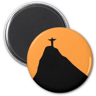 Corcovado - Brasilien Runder Magnet 5,1 Cm