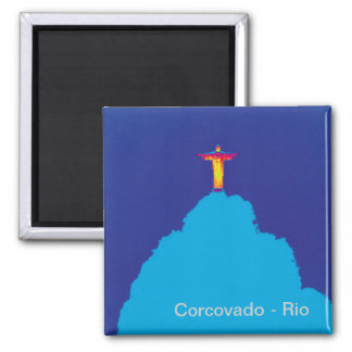 Corcovado Rio Brasilien Quadratischer Magnet