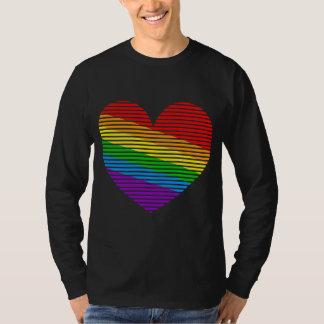 Corey Tiger-80er Regenbogen-Streifen-Herz-lange Hemden