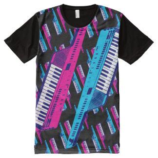 Corey Tiger-80er Retro Keytar synthesizer T-Shirt Mit Komplett Bedruckbarer Vorderseite