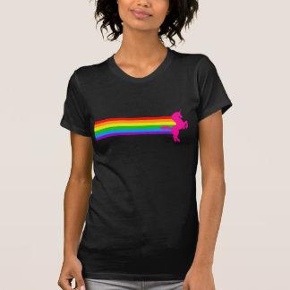 Corey Tiger-80er Retro Vintager RegenbogenUnicorn T Shirt