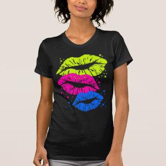 Corey Tiger-80er Vintage Lippen u. hat Küsse in Shirt