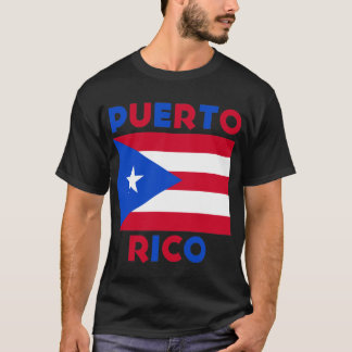 Corey Tiger-80er Vintage Puerto- Ricoflagge T-Shirt
