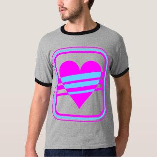 Corey Tiger-80er Vintages Herz u. Streifen T-Shirt