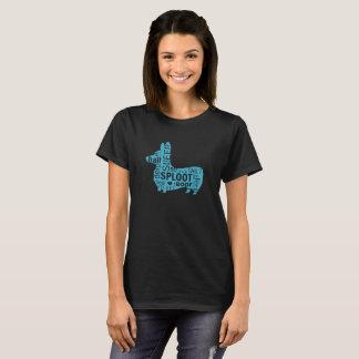Corgi-Persönlichkeits-Silhouette T-Shirt