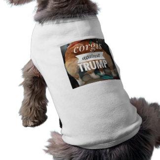 Corgis gegen Trumpf-Hundeshirt Ärmelfreies Hunde-Shirt