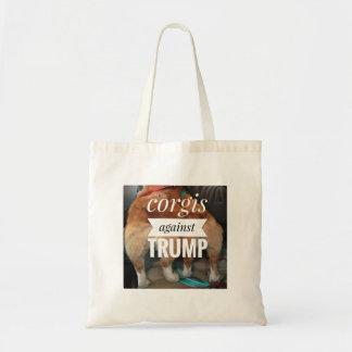 Corgis gegen Trumpf-Tasche Tragetasche