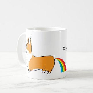 Corgis kacken Regenbogen Kaffeetasse