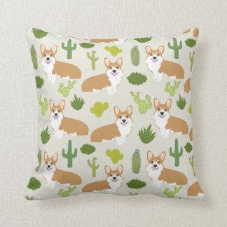 Corgis und Kaktus Throwkissen - niedliches Kissen