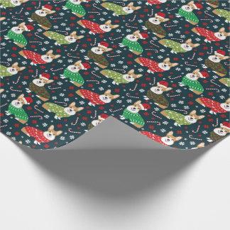 Corgiweihnachtsstrickjacke-Packpapier Geschenkpapier