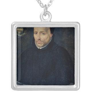 Cornelius Jansen Halskette Mit Quadratischem Anhänger