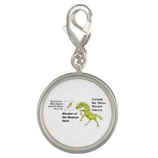 Cornum mit Herden-Info - rundes Silber überzogener Foto Charms