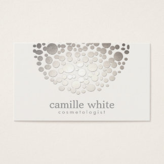Cosmetology-Imitat-silberne Folie kreist Schönheit Visitenkarte