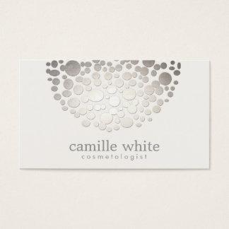 Cosmetology-Imitat-silberne Folie kreist Schönheit Visitenkarten