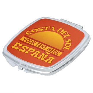 Costa del Sol kundenspezifischer Taschenspiegel