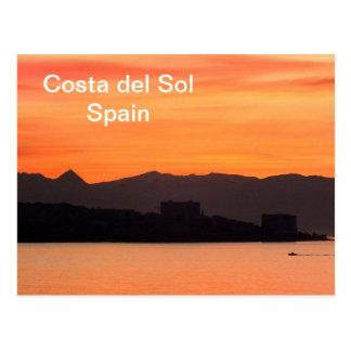 Costa del Sol, Spanien Postkarte