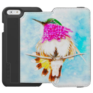 Costa-Kolibri-Aquarell Incipio Watson™ iPhone 6 Geldbörsen Hülle