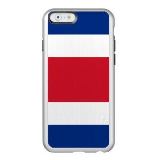 Costa Rica-Flagge Incipio Feather® Shine iPhone 6 Hülle