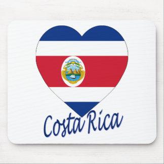 Costa Rica-Flaggen-Herz Mousepads