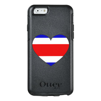 Costa Rica-Flaggen-Herz OtterBox iPhone 6/6s Hülle