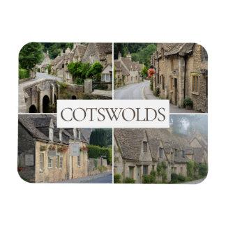 Cotswolds Landschaftscollagen-Reise-Foto Magnet