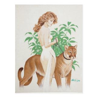 Cougar PinUp Postkarte