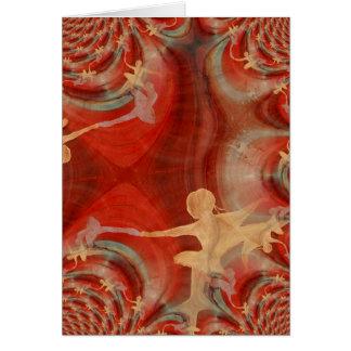 Couleur D'une Danse De Ballet 3 Grußkarte