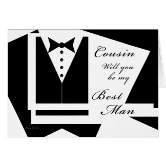 Cousin sind Sie meine Trauzeuge-Karte Grußkarte