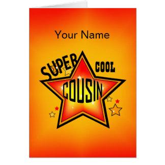 Cousin-super cooler Stern-Gruß Mitteilungskarte